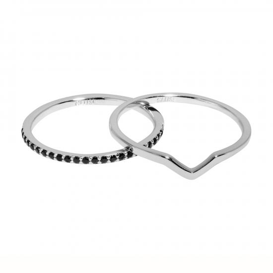 CLJ42004_Essentielle-Silver-Chevron-and-Black-Crystal-Set-of-Two-Rings_w